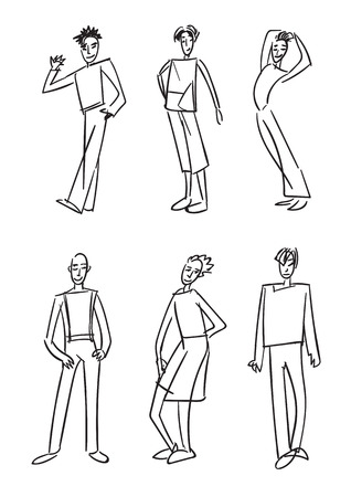 Fashion boys, sketch