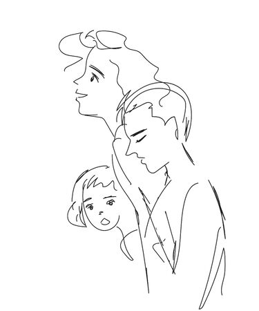 family free-hand sketch