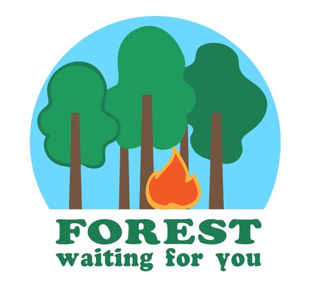 forest are waiting for you Illustration