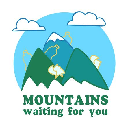 moutains are waiting for you Stock Illustratie