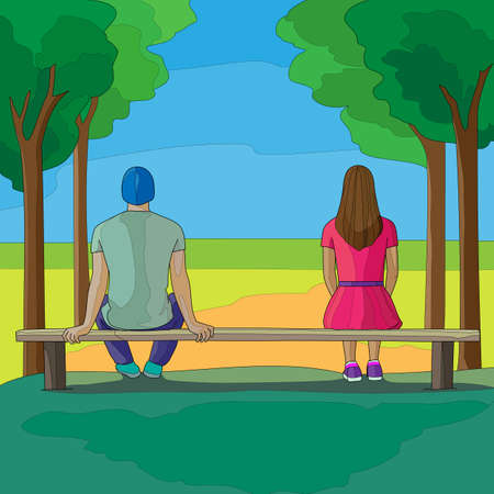 Man and woman on the bench
