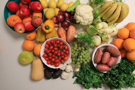 Fruits and Vegetables. Healthy organic food concept.