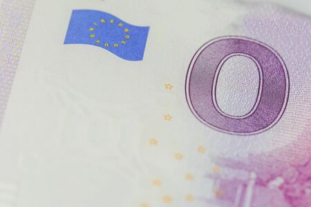Not real Euro bill with the value
