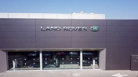 North district, Israel - July 4, 2020: Land Rover brand luxury car dealership.