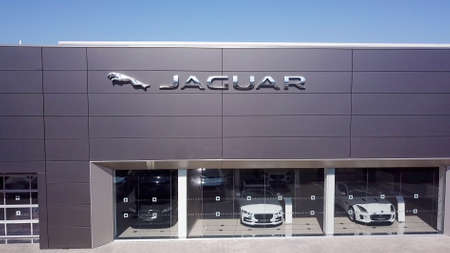 North district, Israel - July 4, 2020: Jaguar brand luxury car dealership. 報道画像