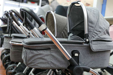 Row of Baby Stroller in a local shop.