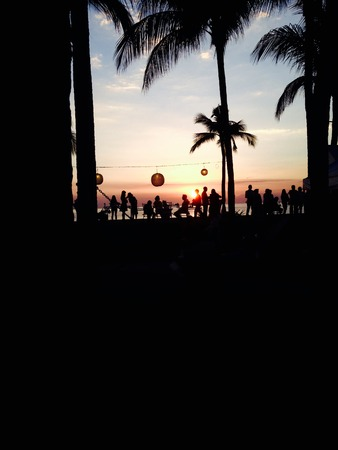 frequented: manila bay sunset frequented by both local and foreign tourists Stock Photo