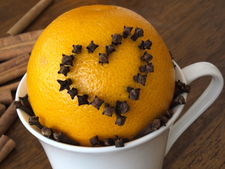 orange with heart photo