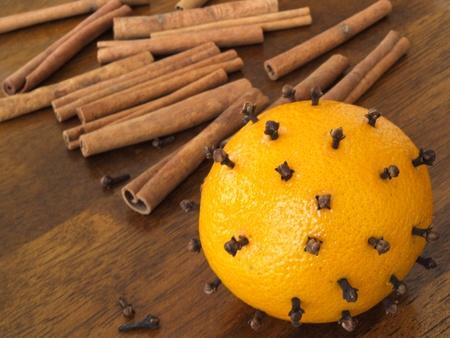 oranges with clove photo
