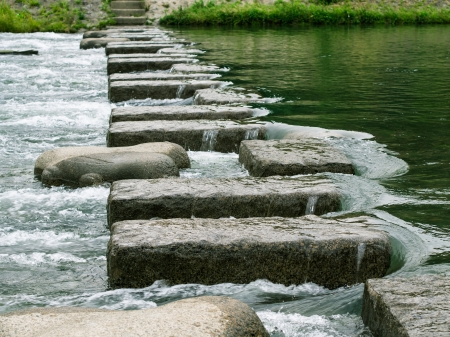 stone steps: Steps to the Goal Stock Photo