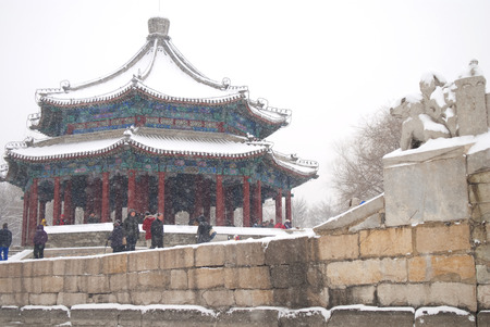 gloriette: a pavilion beside the Kunminghu Lake in the Summer Palace