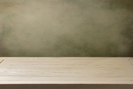 surface aged: Background with white wooden table