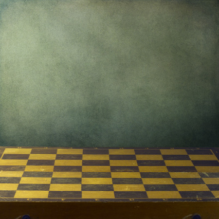 chess board: Background with vintage chess board Stock Photo