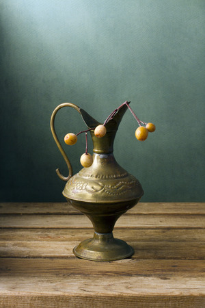 pitcher: Vintage pitcher with berries
