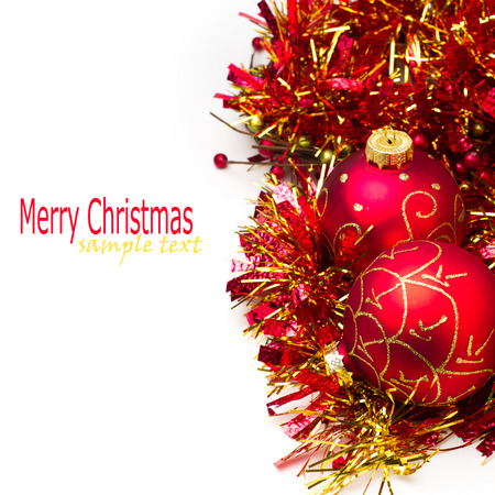 Christmas festive ornament on white background