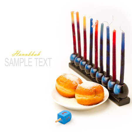 menorah: Jewish holiday Hanukkah
