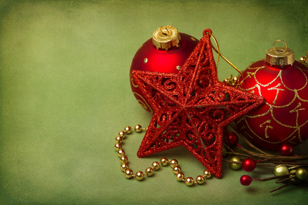 Christmas background with empty space for message Stock Photo