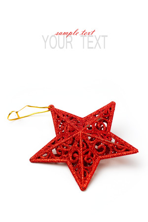 star ornament: Christmas star ornament on white background