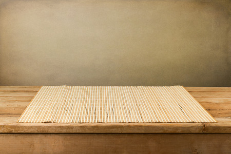 Retro background with wooden deck table
