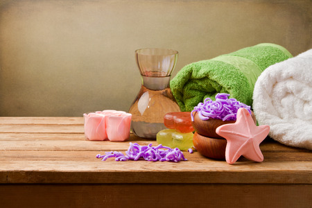 hygeine: Spa still life setting Stock Photo