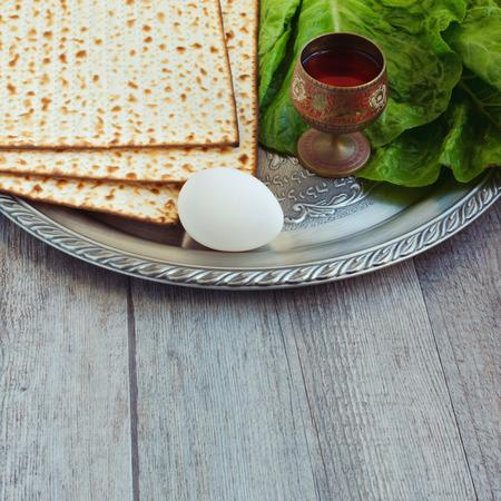 matzoth: Jewish Passover holiday  Stock Photo