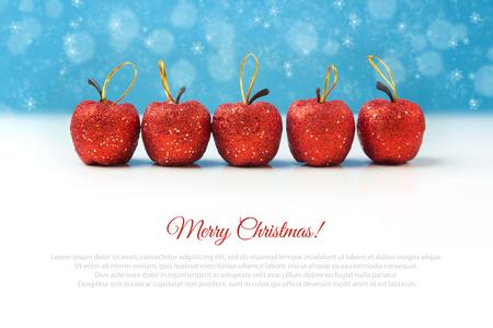 apple christmas: Christmas apple decorations Stock Photo