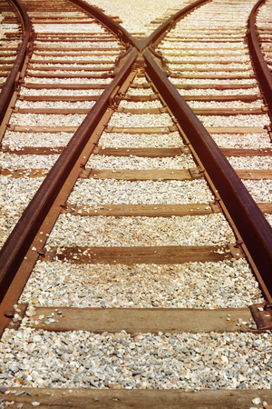 railroads: Railway track background