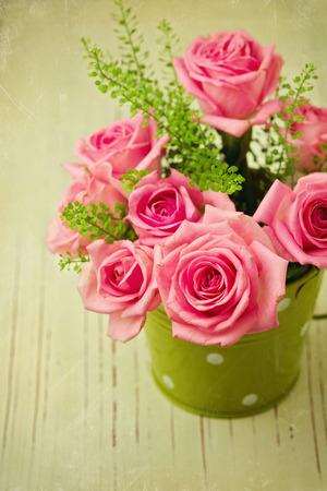 bouquet fleur: Photo vintage de rose bouquet de fleurs Banque d'images