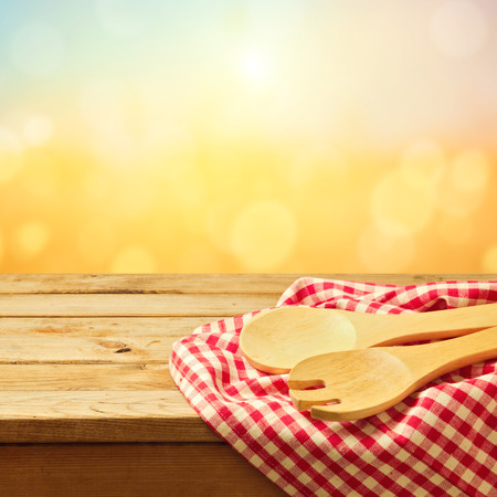 cooking utensil: Baking and cooking utensil on wooden table Stock Photo
