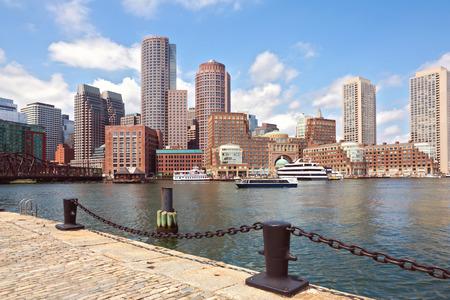 boston skyline: Boston Harbor and Financial District. Boston- Massachusetts, USA