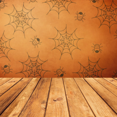 spiders: Vintage background for Halloween holiday Stock Photo