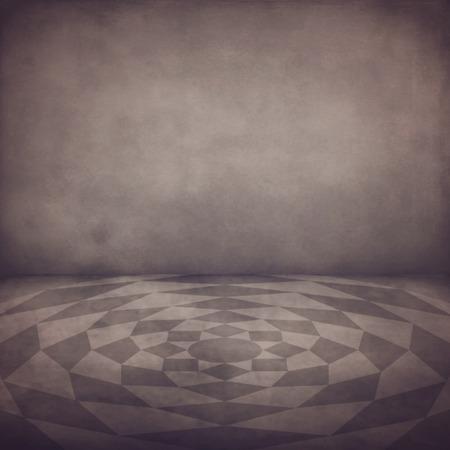 fake diamond: Grunge background of vintage interior