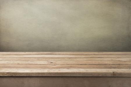 ビンテージ木製テーブルの背景 写真素材