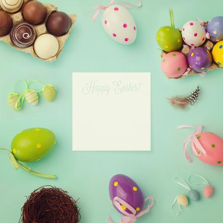creador: Fondo de vacaciones de Pascua, con efecto retro filtro