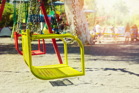 savety: Playground swing in camping area