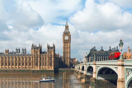 britan: Big Ben and Houses of Parliament in London, UK Stock Photo