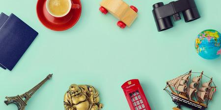 Travel concept mock up design photo