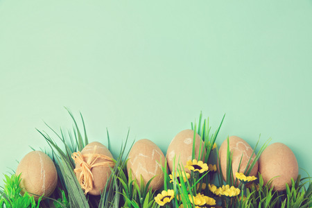 craft paper: Easter holiday background with retro filter effect