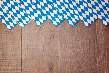 Wooden background for Oktoberfest german beer festival 写真素材