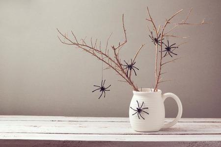 クモとハロウィーン休日背景 写真素材 - 44193522