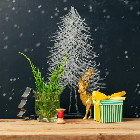 xmas crafts: Christmas holiday still life composition
