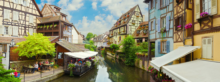 colmar: Beautiful old town Colmar, France. Panoramic view