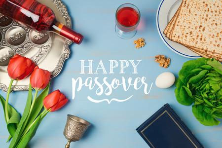 Jewish holiday passover pesah greeting card with seder plate jewish holiday passover pesah greeting card with seder plate matzoh tulip flowers and wine m4hsunfo