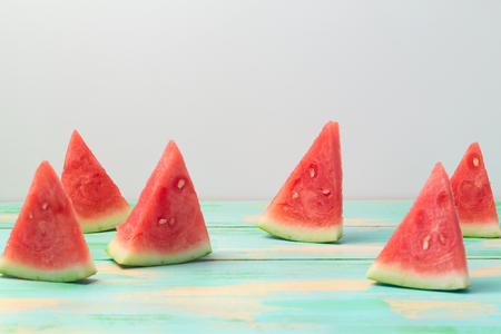 Watermelon on wooden table. Summer holiday concept