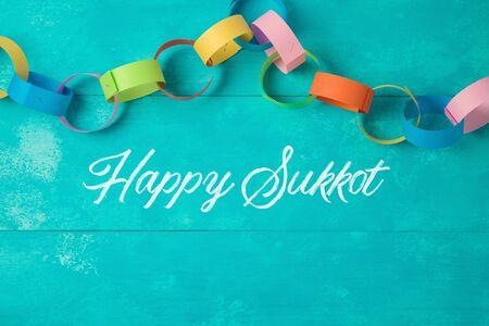 Jewish holiday Sukkot celebration background Stock Photo