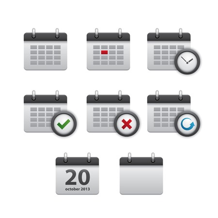 Set of realistic calendar icons in vector Vector