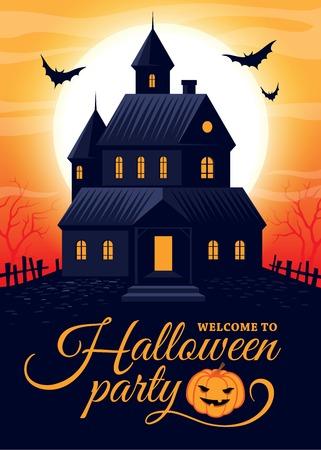 spooky house: Halloween house party