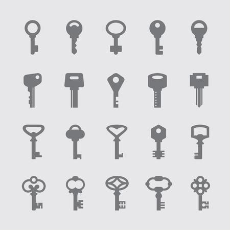 safety lock: Keys icons