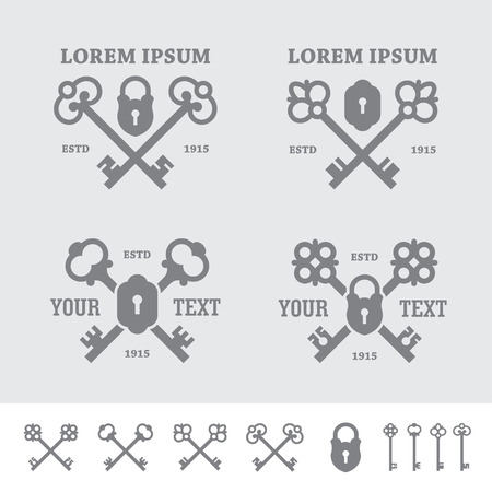 Labels with crossed keys