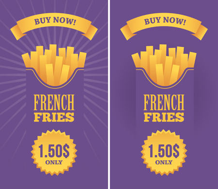 french fries: French fries banners